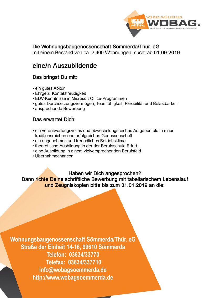 stellenanzeige pdf - Immobilienkaufmann Bewerbung