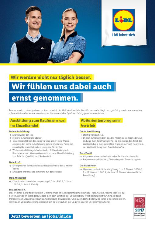 online bewerben stellenanzeige pdf - Lidl Online Bewerbung