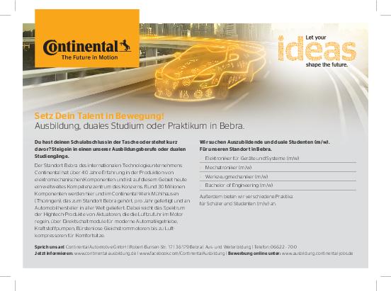 stellenanzeige pdf - Continental Bewerbung