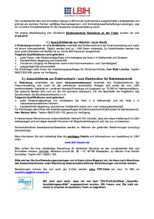 stellenanzeige pdf - Bewerbung Elektroniker Fur Betriebstechnik